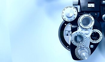 Closeup of Eye Testing Equipment